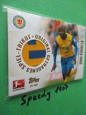 Topps Bundesliga Chrome Trikot Karte Kumbela Jersey Card Braunschweig  2013 14