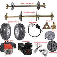 "29/"" Rear Live Axle Kit Wheel Hub Sprocket Bearing Pillow Block Go Kart Trike"