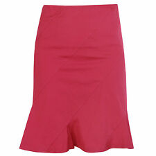 JIL SANDER ruffled hem spiral seam cotton-blend fuchsia pink skirt 36-F/4-US