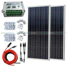 200Watt Off Grid Solar System Kit-2*100W Solar Panels for 12V Home Boat Camping