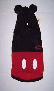 Disney Dog Costume with hood Hoodie Extra Large - MICKEY MOUSE Halloween NWT
