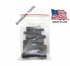 Jawco T6F 6pc NF-SAE Fine Thread Rethreading Tap Set Rethread Restore 1/4-9/16""