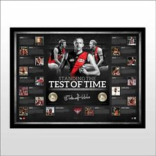 DUSTIN FLETCHER SIGNED FRAMED ESSENDON BOMBERS THE 400 CLUB LIMITED PRINT