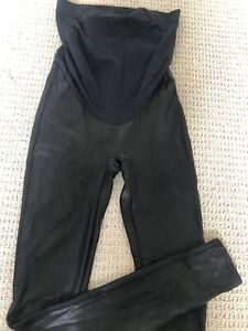 Spanx Maternity Leggings Faux Leather Small UK 8/10