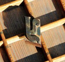 letter: Y rare wood type letterpress printing block woodtype font antique print.