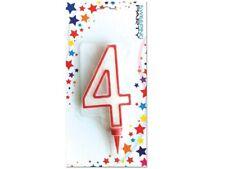 ds Candela Gigante Glitter Numero 4 Compleanno Candelina Festa Party dfh