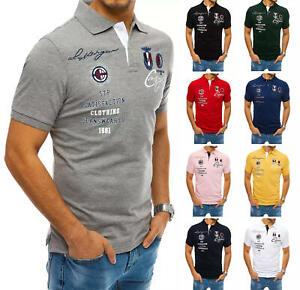 DSTREET Poloshirt Herrenshirt Kurzarm Sport Stickerei Herren m l xl 2xl