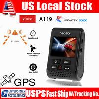 VIOFO Advanced A119 V2 Capacitor Novatek  HD1440p 160° Car GPS Dash Camera DVR