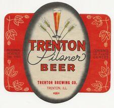 Trenton Brewing Pilsner Beer label Irtp Trenton Il