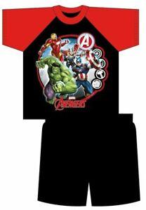 Boys Avengers Short Pyjamas Kids Marvel PJ 100% Cotton Size 4 - 10 Years