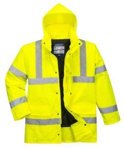 Portwest S460 High Visibility Hi Vis Hooded Waterproof Traffic Jacket Coat
