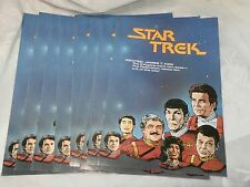 10 VINTAGE STAR TREK FLYERS ADVERTISEMENTS FOR UPCOMING DC COMIC BOOKS 1989