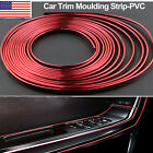 16ft Car Interior Door Gap Edge Line Molding Trim Strip Decorate Red Accessories