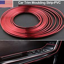 16ft Car Interior Door Gap Edge Line Molding Trim Strip Decorate Red Accessories Fits 1991 Honda Civic