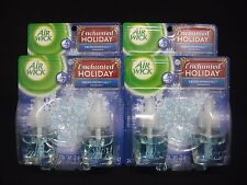 8 Air Wick Scented Oil Refills Enchanted Holiday Fresh Snowfall Total of 4 Packs