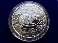Ukraine 10 UAH 2019 PROOF 1 OZ Silver Fauna Birds White-tailed EAGLE Box Cert.