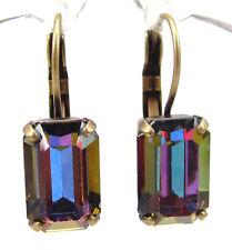 SoHo® Ohrhänger vintage bronze altgold 1960s Kristalle baguette crystal bermuda