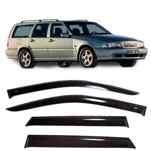For Volvo V70 Wagon 1996-2000 Side Window Visors Sun Rain Guard Vent Deflectors