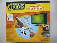 National Geographic MEGAVIEW TV MICROSCOPE by iKIDS NEW / OPEN BOX