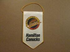 AHL Hamilton Canucks Vintage Defunct Hockey Banner Pennant
