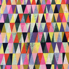MO99 Colorful Geo Triangles Mod City Life Geometric Moda Cotton Quilt Fabric