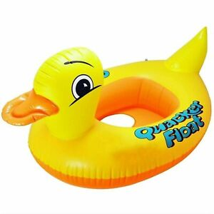 Inflatable Baby Swimming Ring Seat Float Boat Beach Sun Shade Water Pool Duck