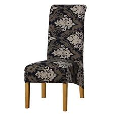 Long Back Size Chair Cover Checked Printed Flowers Pattern Wedding Nice Seat New