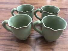 Park Designs Village Collection Celery Green Set Of 4 Mugs