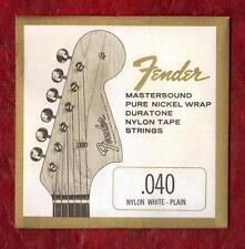 Fender Nylon White Plain Classical 3rd Single String .040 Gauge, 2 pack.