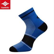 SANTIC MTB Bike Professional Cycling Socks Breathable Outdoor Sport Socks Blue