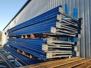 Seconhand Good Condition Stow Pallet Racking Uprights / Frames 6m x 1100mm