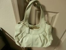 Vintage Coach Beige Leather Purse Tote