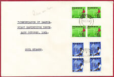 Zambia 1964 Independence 1st Definitive Coil Stamps sg 94-5 LUANSHYA Oct 24