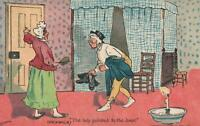 1907 Comic Pickwick, Ludovici/Davidson, THE LADY POINTED to the DOOR POSTCARD