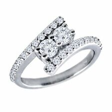 Forever Us Two Stone Round Diamond .25ctw 14k White Gold Ring Bridal Engagement