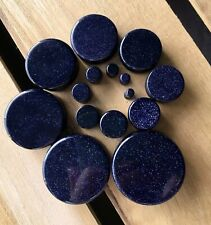 PAIR of Gold Sandstone Organic Stone Plugs Gauges up to 38mm available!