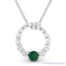 0.44ct 14k White Gold Diamond Pendant Necklace