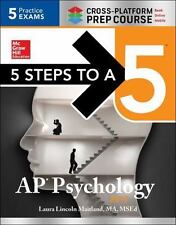 5 STEPS TO A 5 AP PSYCHOLOGY 2017 - MAITLAND, LAURA LINCOLN - NEW PAPERBACK BOOK