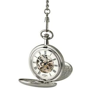 Rotary Full Hunter Mechanical Pocket Watch With Chain MP00726/01