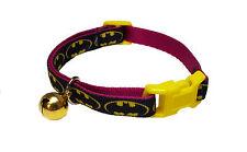 Spoilt Rotten Pets UK Made Quality Sassy Style Flamboyant Bat Man Cat Collar