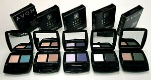AVON Eyeshadow Duo 2 Colours True Colour Eyeshadow Palette Case Creaseproof NEW