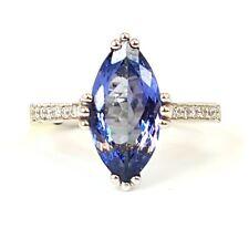 2.50 Carat Tanzanite And Diamond Ring, 18k White Gold