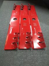 "EXMARK GATOR STYLE MULCH BLADES FOR 52"" CUT. REPLACES OEM 103-6397. SET OF 3"