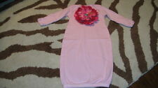 ETSY NEWBORN PINK LARGE FLOWER BUNTIN SACK OUTFIT