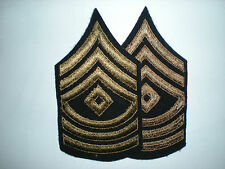 US ARMY WWII FIRST SERGEANT STRIPES -ORIGINAL-- 1 PAIR