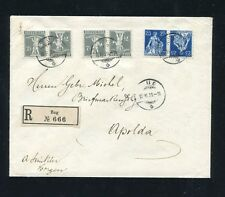 Switzerland 1920 cover to Germany with 3 tete-beche pair with photo cert