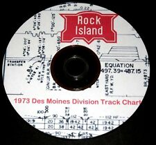 Rock Island 1973 Des Moines  Division Track Chart Pages on DVD