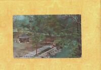 NJ Glen Ridge 1905-09 antique postcard BROOK PARK & ARCH BRIDGE New Jersey TO CT