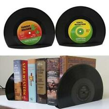 2pcs Creative Vinyl Record Shape Book Shelves Bookends Organizer Holders Stand S