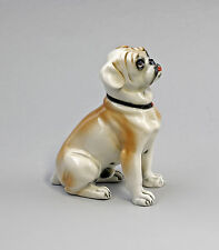 Figura de porcelana Perro Pequeño Bulldog marrón claro Ens 10x5x11,5cm 9941587